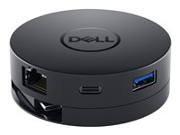 Dell Mobile Adapter DA300 - Dockningsstation - USB-C - VGA - GigE - för Latitude 3120, 53XX, 54XX, 55XX, 73XX, 74XX, 7520; Precision Mobile Workstation 35XX DELL-DA300